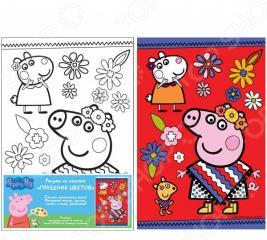 Набор для росписи по холсту Росмэн Peppa Pig «Праздник цветов»