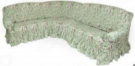 Натяжной чехол на классический угловой диван Еврочехол «Фантазия. Феличита»