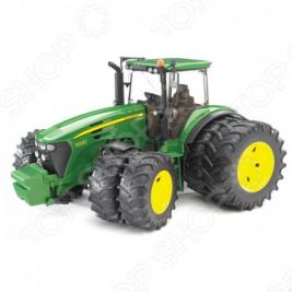 Трактор с двойными колесами Bruder John Deere 7930
