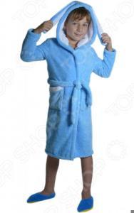 Халат детский Dream Time «Зайка». Цвет: синий