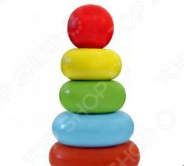 Игрушка-пирамидка Alatoys «Колечки» 050105