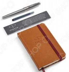 Набор подарочный: ручка перьевая и блокнот Parker Sonnet Stainless Steel CT