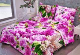 Комплект постельного белья Fiorelly «Розовая сирень». Размерность: 1,5-спальное