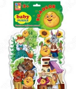 Пазл мягкий Vladi Toys «Сказки. Колобок»