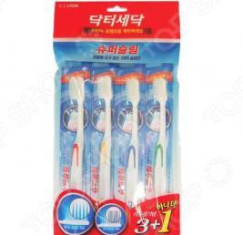 Набор зубных щеток для ослабленных десен CJ Lion Dr. Sedoc Super Slim