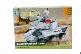 Конструктор игровой 1 Toy «Военная техника. Быстроходный танк»