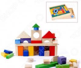 Конструктор деревянный PAREMO «Домики» в деревянном ящике
