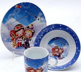 Набор посуды для детей Mayer&Boch «Лыжники» MB-23388