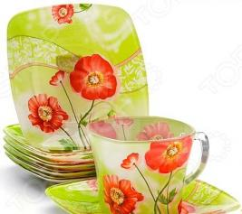 Чайный сервиз Lorein «Цветущий сад». Цвет: маки