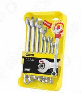 Набор из 8-ми комбинированных гаечных ключей STANLEY Ratcheting Wrench 4-95-660
