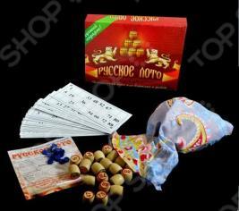 Игра «Русское лото». Материал: дерево, пластик