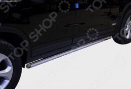 Комплект защиты штатных порогов Souz-96 овальные для KIA Sorento 2013