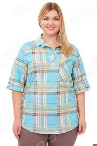 Рубашка Алтекс «Клементина». Цвет: голубой
