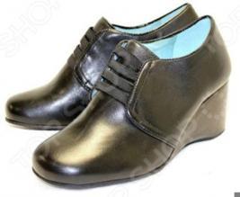 Туфли Klimini «Агния» (кожа) с эластичными лентами
