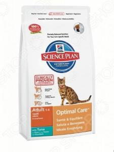 Корм сухой для кошек Hill's Science Plan Optimal Care с тунцом