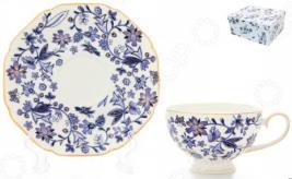 Чашка чайная с блюдцем Elan Gallery «Изысканность»