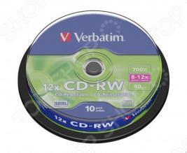 Набор CD+RW дисков Verbatim 43480
