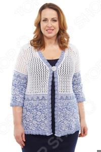 Жакет LORICCI «Парма». Цвет: белый, джинсовый