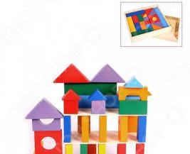 Конструктор деревянный PAREMO «Кубики макси» в деревянном ящике