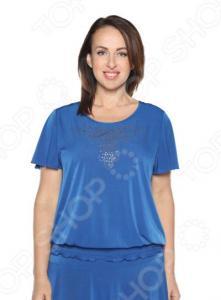 Блуза «Ослепительная». Цвет: васильковый