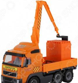 Набор: машинка с конструктором POLESIE Volvo «Супер-Микс. Кран с манипулятором»