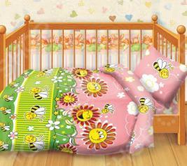 Детский комплект постельного белья Кошки-Мышки Пчелки