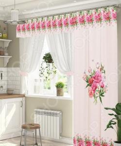 Комплект штор для окна с балконом ТамиТекс «Глэдис»