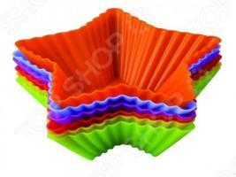 Набор форм для выпечки силиконовый Regent «Тарталетки-звезды»