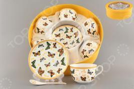 Чайный набор с ложками Elan Gallery «Бабочки»