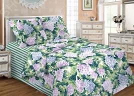 Комплект постельного белья «Магия Вечера». 1,5-спальный. Рисунок: «Гортензия»