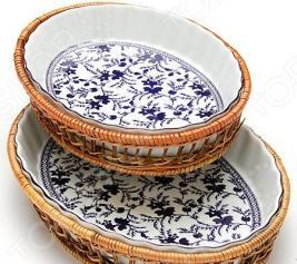 Набор форм для выпечки керамических Mayer&Boch «Домашний уют». Рисунок: гжель