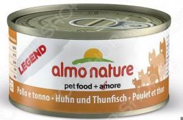 Корм консервированный для кошек Almo Nature Legend с курицей и тунцом