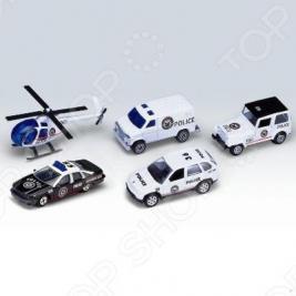 Набор машинок игрушечных Welly «Полицейская команда»
