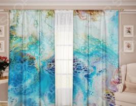 Комплект штор ТамиТекс «Белый Муар 06»
