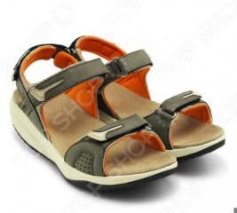 Дышащие cандалии женские Walkmaxx Pure. Цвет: бежевый, оранжевый