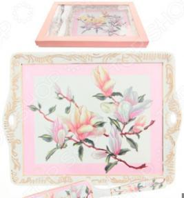 Поднос с лопаткой Elan Gallery «Орхидея на розовом»