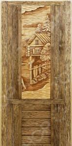 Дверь с резной вставкой Банные штучки 32260