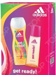 Набор женский: туалетная вода и гель для душа Adidas Get Ready, 50 мл, 250 мл
