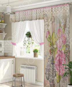 Комплект штор для окна с балконом ТамиТекс «Вступление»