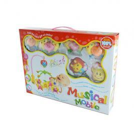 Карусель музыкальная на кроватку с игрушками 1707172