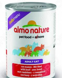 Корм консервированный для кошек Almo Nature DailyMenu Adult with Beef