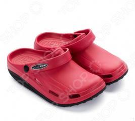 Клоги Walkmaxx Fit 2.0. Цвет: красный, черный