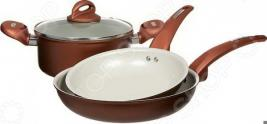 Набор кухонной посуды c внутренним керамическим покрытием VS VS-2216. В ассортименте