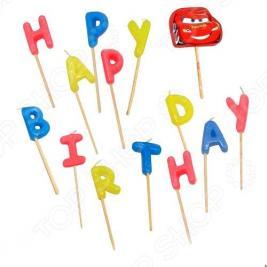 Свечи-буквы Procos «Тачки Happy Birthday»