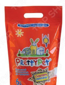 Наполнитель для грызунов и птиц PrettyCat с морковными чипсами