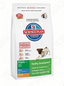 Корм сухой для щенков мелких пород Hill's Science Plan Puppy Mini с курицей