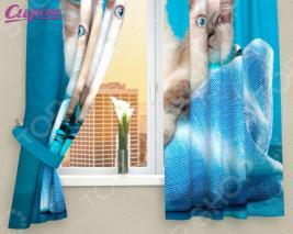 Фотошторы детские Сирень «Три котенка»