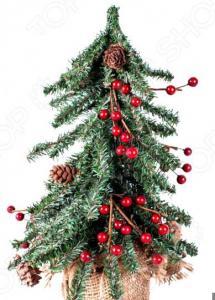 Ель декоративная Crystal Trees с ягодами и шишками «Венская»