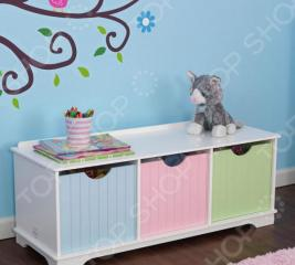 Скамья с ящиками KidKraft Storage Bench Pastel