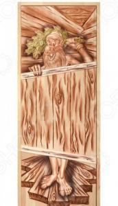 Дверь для бани глухая Банные штучки «Озорной дед» 32703